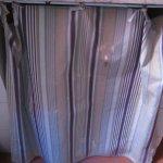 rideaux de cuisine remplit de taches