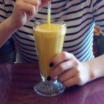 Delicious mango lassi