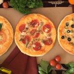 Pizza Margarita, Pizza Padrino, Pizza de Aceitunas