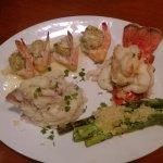 Crab stuffed shrimp, yum.