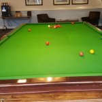 snooker table in leisure club