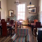 Deskfront and public room for breakfast, reading or making new friends