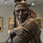 Beautiful sculpture at Briscoe Art Museum