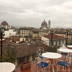 Their views of Florence from the terrace