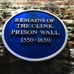 Blue plaque inside