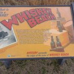 Whiskey Beach sign at Gordons Pond parking lot