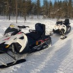 The equipment - I didn't realise snowmobiles are so useful in getting around in the winter!
