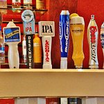 Beers on Tap at the bar