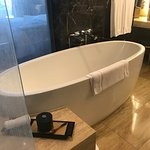 the bathtub size and shape is fantastic!