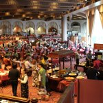 huge dining room for buffet breakfast