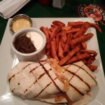 California Shrimp wrap & yam fries