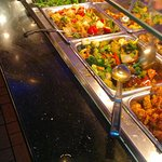 Display of some hot dishes at China Lee Buffet.