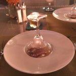Fillet steak smoked under Glass