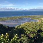 Okupe Lagoon on Kapiti Island looking across to the mainland