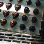 Chocolates in the Cafe and the gift store with lovely French tea towels