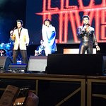 The Three Elvis on stage