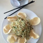 Papya salad is a must try for those who are looking for something other than pho