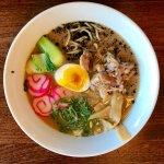 Hapa Ramen – Rich Pork Broth, Roast Pork, Soft Boiled Egg, Choi Sum, Kamaboko, Bamboo Shoots, Ma