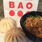 Kung pay bao bun, Wheat Vegetable bao & Kung pao chicken rice bowl.