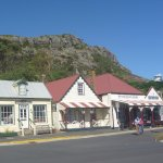 Some of the buildings in Stanley used in the making of the film 'The Light Between Oceans'