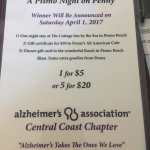 Penny choose her charity of the year! Alzheimer's Association of SLO Central Coast Chapter!