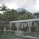 View from the Center Pool with Arenal in the Background