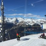 After a 10 mins bubble & chair lift ride from Pinzolo we reached  the breathtaking peak with a l