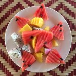 Fruit plate at the Silk Road Cafe at the Living Crafts Center