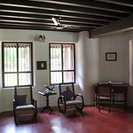 clean cool and spacious room, with antique furniture