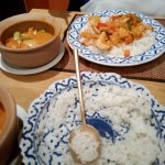 Massaman - peanut chicken curry + Coconut rice (#63+99)