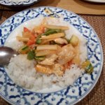Kang Dang -red Thai Chicken Curry + Coconut rice (#58+99)