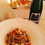 Spaghetto grezzo con aglio,olio,peperoncino e astice