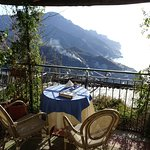 Breakfast on the terrace with a breathtaking view of the Amalfi Coast
