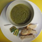 Home made Gluten-Dairy free Vegan soup with organic home bread (or gluten free bread on request