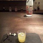 Cocktail made with sake