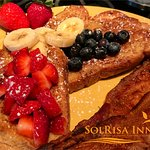 You have to try Elena's Red, White & Blue Challah Toast! Your tastebuds will dance!