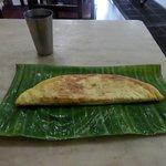 meal on banana leaf