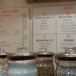 Toppings and menus