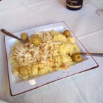 Tapas of couscous and olives
