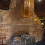 Hotel dining area fireplace for those cold winter nights.