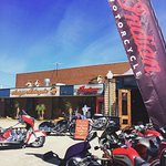 entrance to the Naked Racer & Antique Motorcycles