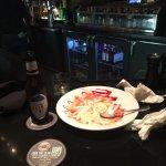 I had a great dinner at Longhorn I had lamb chops and calamari my brother had the cowboy Pork ch