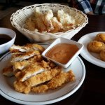 chicken katsu x2, shrimp tempura, scallop tempura