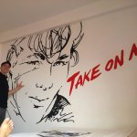 The Aha Themed Family Room featuring Morten Harket Mural at Babel Guesthouse.