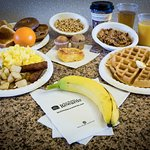 enjoy a wide variety of breakfast items