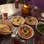 Appies of Hummus, Babah Gannoush and Tabouleh