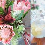 Flowers and lemonade