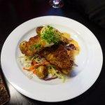 Основное блюдо: рыба с овощами