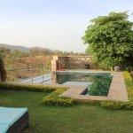 Private villa pool and garden