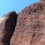 la roccia color ocra